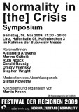 Poster Normality in [the] Crisis